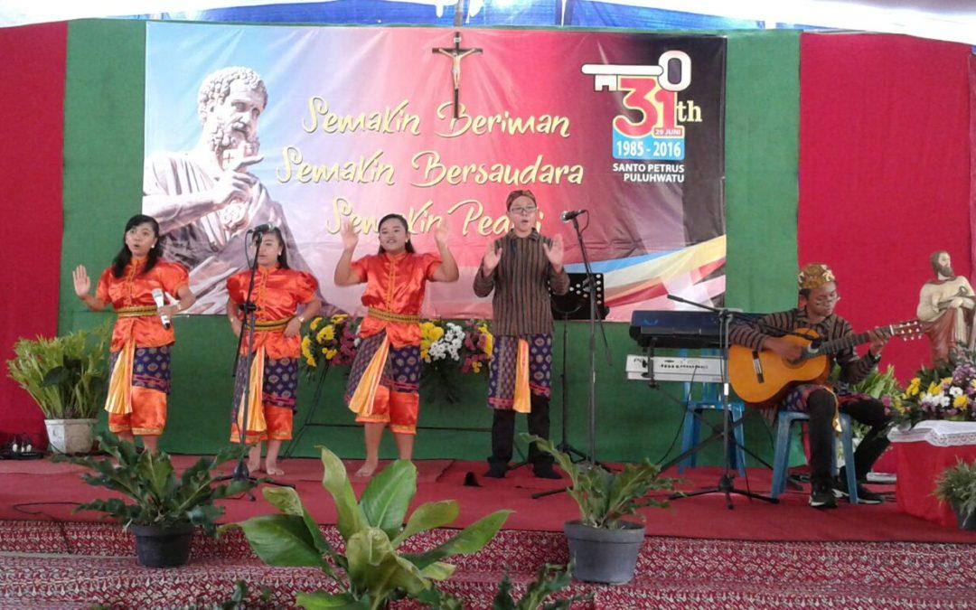 Vocal Group SMP Maria Assumpta di Perayaan Ulang Tahun Gereja Puluhwatu