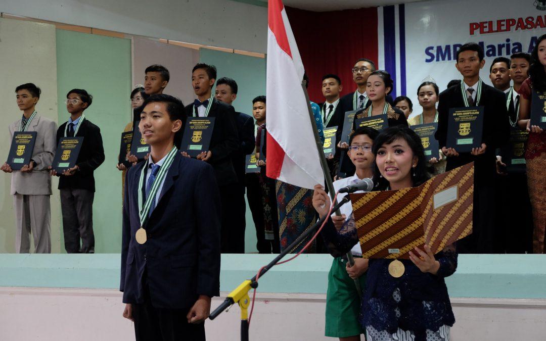 Langkah Pasti Meraih Prestasi, Wisuda Kelas 9 SMP Maria Assumpta 2018