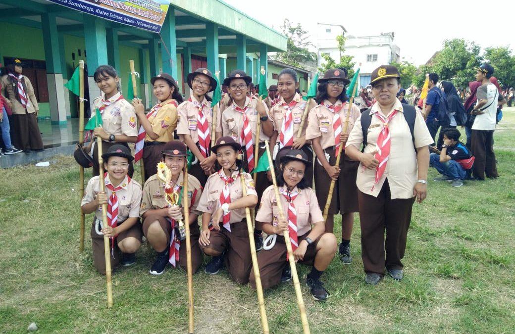SMP Maria Assumpta Raih Piala di Galang Terampil Kwarcab Klaten