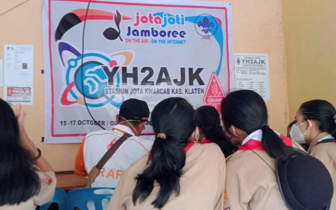 Mengikuti Perkembangan Zaman di Era Teknologi Melalui JOTA JOTI 2021 Kwarcab Klaten